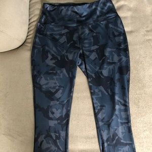 Blue Camouflage Camo Athletic Pants